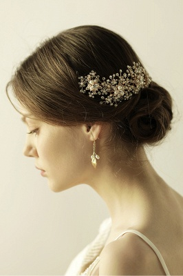 Luxury glamourous Alloy&Rhinestone Special Occasion &Wedding Headbands Headpiece with Imitation Pearls_5