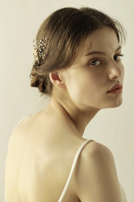Beautiful Alloy&Rhinestone Wedding Combs-Barrettes Headpiece with Imitation Pearls_7