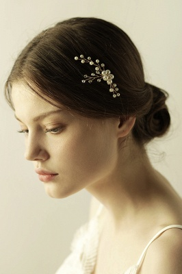 Cute Alloy Daily Wear Hairpins Headpiece with Imitation Pearls_7