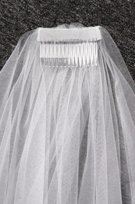 Cathedral Tulle Scalloped Edge 3*1.5M Wedding Gloves with Appliques_5