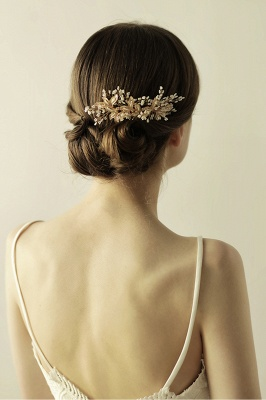 Beautiful Alloy Daily Wear Combs-Barrettes Headpiece with Imitation Pearls_4