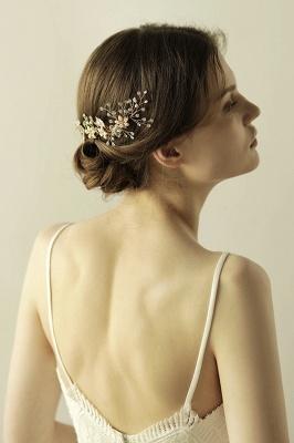 Beautiful Alloy&Rhinestone Wedding Combs-Barrettes Headpiece with Imitation Pearls_4