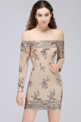 CASSANDRA   Sheath Off-the-Shoulder Nude Pink Homecoming Dresses with Sequins_4