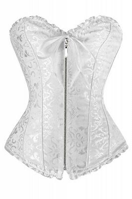 Popular Chinlon&Polyester Back-lace Women's Corset Shapewear with Prints_1