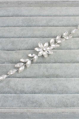 Flower Alloy&Rhinestone Special Occasion Hairpins Headpiece with Crystal_3