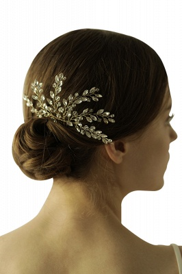 glamourous Alloy Party Combs-Barrettes Headpiece with Crystal_1