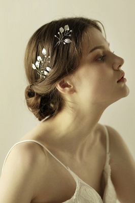 Beautiful Alloy Daily Wear Hairpins Headpiece with Imitation Pearls_2