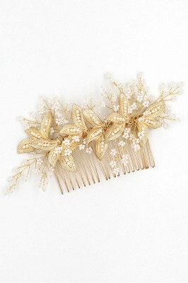 Beautiful Alloy Daily Wear Combs-Barrettes Headpiece with Imitation Pearls_11