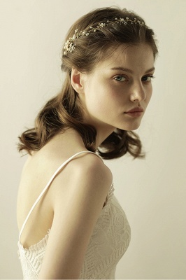 Beautiful Alloy&Rhinestone Special Occasion Headbands Headpiece with Imitation Pearls_4