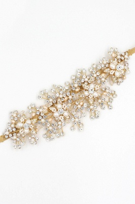 Luxury glamourous Alloy&Rhinestone Special Occasion &Wedding Headbands Headpiece with Imitation Pearls_9