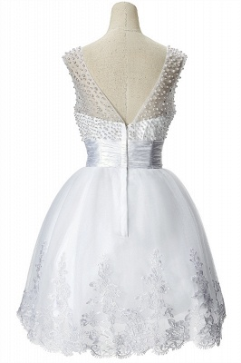 A-line Jewel Tulle Party Dress With  Beading_7
