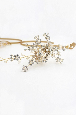 Beautiful Alloy&Rhinestone Special Occasion Headbands Headpiece with Imitation Pearls_10