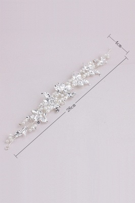 Elegant Alloy &Imitation Pearls Special Occasion Hairpins Headpiece with Rhinestone_7