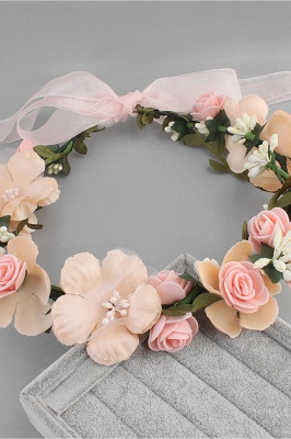 Flower Plastic Special Occasion Flower-Girl's-Headwear Headpiece with Imitation Pearls_9