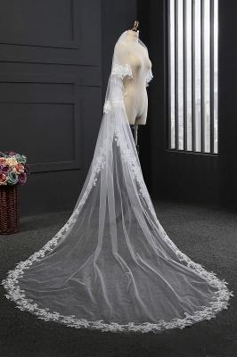 Elegant Tulle lace Applique Edge 3*1.5M Wedding Gloves_1