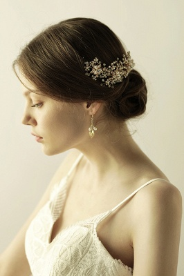 Luxury glamourous Alloy&Rhinestone Special Occasion &Wedding Headbands Headpiece with Imitation Pearls_4