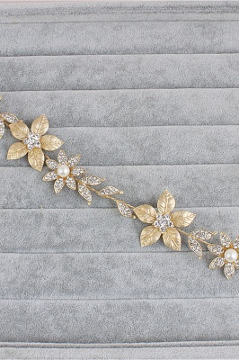 Floral Alloy &Imitation Pearls Daily Wear Hairpins Headpiece with Rhinestone_4