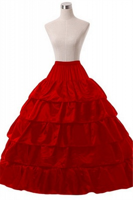 Cute Taffeta Scalloped Edge Ball Gown Party Petticoats_5