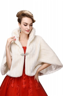Elegant Warm Tulle  Ivory Half-Sleeves Casual Wraps with Crystal_1