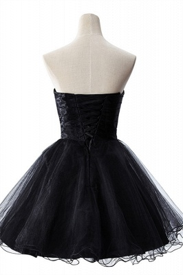 AISHA | A-line Strapless Tulle Prom Dress With  Embroidery_7