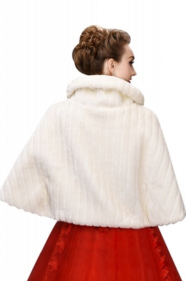 Elegant Warm Tulle  Ivory Half-Sleeves Casual Wraps with Crystal_3