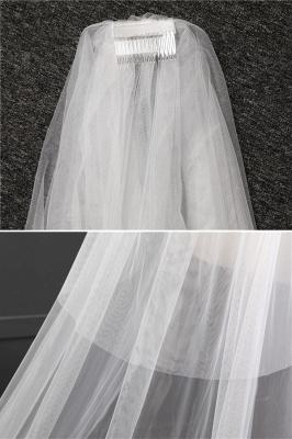 Elegant Lace Applique Edge Wedding Gloves with Appliques_6
