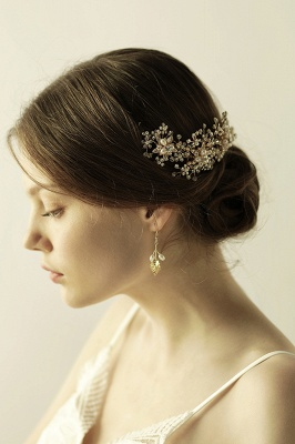 Luxury glamourous Alloy&Rhinestone Special Occasion &Wedding Headbands Headpiece with Imitation Pearls_6