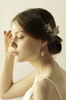 Luxury glamourous Alloy&Rhinestone Special Occasion &Wedding Headbands Headpiece with Imitation Pearls_3