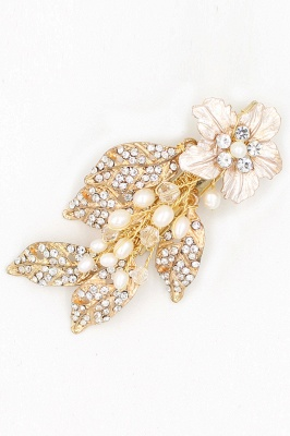 Beautiful Alloy&Rhinestone Party Combs-Barrettes Headpiece with Imitation Pearls_9