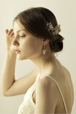 Luxury glamourous Alloy&Rhinestone Special Occasion &Wedding Headbands Headpiece with Imitation Pearls_8