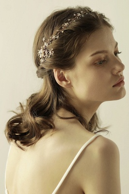 Beautiful Alloy&Rhinestone Special Occasion Headbands Headpiece with Imitation Pearls_1