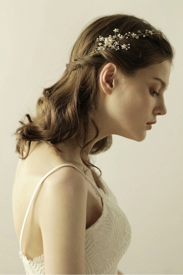 Beautiful Alloy&Rhinestone Special Occasion Headbands Headpiece with Imitation Pearls_3