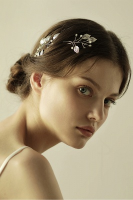Beautiful Alloy Daily Wear Hairpins Headpiece with Imitation Pearls_6