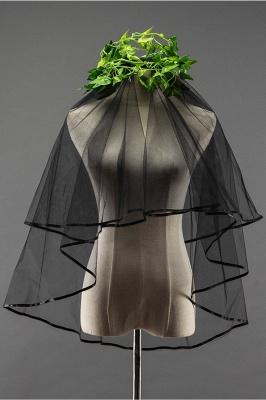 Sexy Black Tulle Ribbon Edge 1.5*1.5M Wedding Gloves