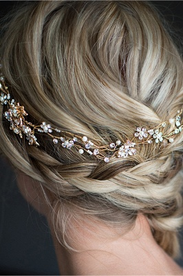 Beautiful Alloy &Imitation Pearls Special Occasion Hairpins Headpiece with Rhinestone_6