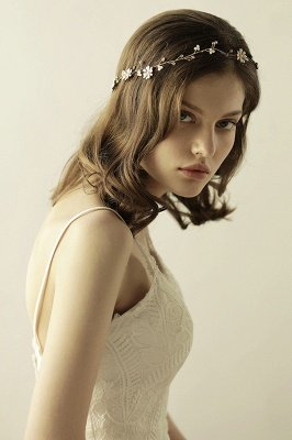 Floral  Alloy Party Headbands Headpiece with Rhinestone_8