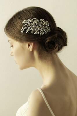 glamourous Alloy Imitation Pearls Special Occasion Combs-Barrettes Headpiece with Rhinestone