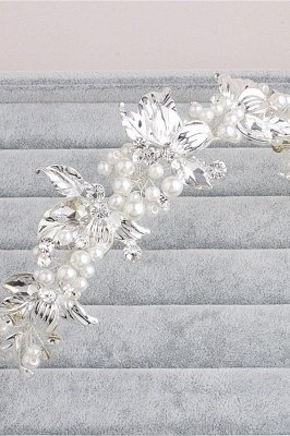 Elegant Alloy &Imitation Pearls Special Occasion Hairpins Headpiece with Rhinestone_8