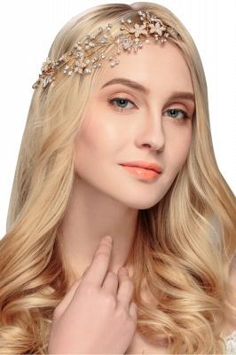 glamourous Alloy &Imitation Pearls Special Occasion&Party Headbands Headpiece with Rhinestone_1
