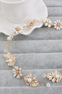 Cute Alloy &Imitation Pearls Party Hairpins Headpiece with Crystal_1