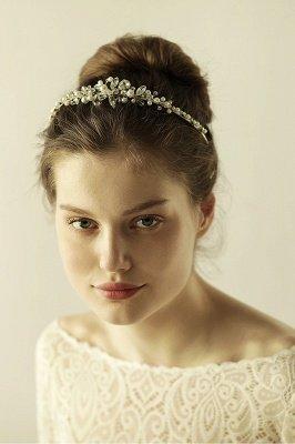 Elegant Alloy Imitation Pearls Special Occasion &Wedding Hairpins Headpiece with Crystal Rhinestone_4