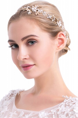 Beautiful Alloy &Imitation Pearls Special Occasion Hairpins Headpiece with Rhinestone_1
