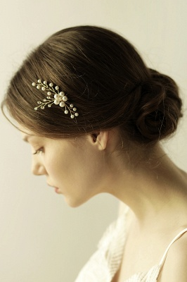 Cute Alloy Daily Wear Hairpins Headpiece with Imitation Pearls_6