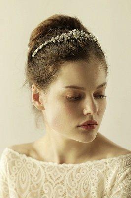 Elegant Alloy Imitation Pearls Special Occasion &Wedding Hairpins Headpiece with Crystal Rhinestone_6