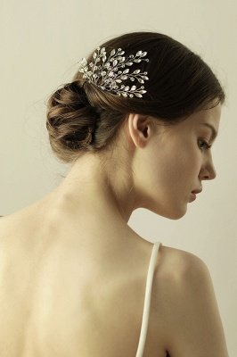 glamourous Alloy Party Combs-Barrettes Headpiece with Crystal_6