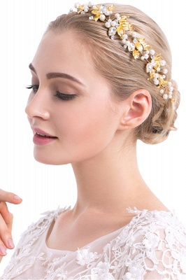 Elegant Alloy &Imitation Pearls Special Occasion Hairpins Headpiece with Rhinestone_3