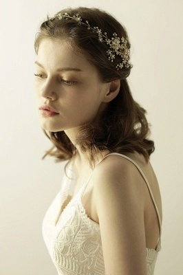 Beautiful Alloy&Rhinestone Special Occasion Headbands Headpiece with Imitation Pearls_8