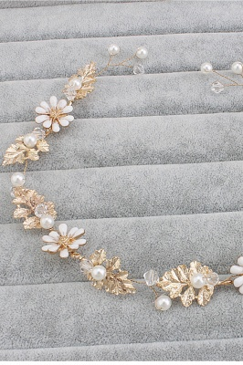 Cute Alloy &Imitation Pearls Party Hairpins Headpiece with Crystal_2