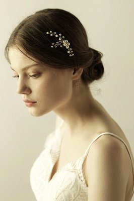 Cute Alloy Daily Wear Hairpins Headpiece with Imitation Pearls_4