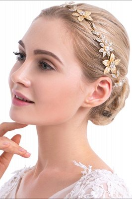 Floral Alloy &Imitation Pearls Daily Wear Hairpins Headpiece with Rhinestone